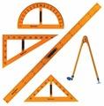 BRAUBERG Набор чертежный для классной доски 5 предметов (210383)