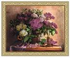 Золотое Руно Набор для вышивания бисером Сирень 24 х 30 см (РТ-012)