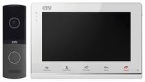 Комплектная дверная станция (домофон) CTV CTV-DP2700IP NG серый (дверная станция) белый (домофон)