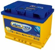Автомобильный аккумулятор Аком + EFB 60Е