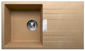 Врезная кухонная мойка Tolero Loft TL-750 75х43.5см кварцевый искусственный камень