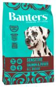 Корм для собак Banters лосось с рисом, с кукурузой, с картофелем