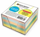 BRAUBERG Блок для записей в прозрачной подставке 9x9x5 см (122226)