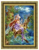 Золотое Руно Набор для вышивания нитками и бисером Лесная мечтательница 38 х 27,8 см (Ф-035)