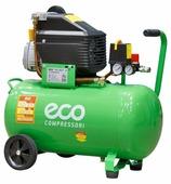 ECO AE-501-3, Компрессор, 260 л/мин, 8 атм, коаксиальный, масляный, ресив. 50 л, 220 В, 1.80 кВт
