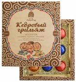 Набор конфет Сибирский кедр Кедровый грильяж ассорти (клюква, черника, облепиха) 120 г