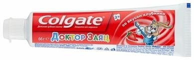 Зубная паста Colgate Доктор Заяц со вкусом клубники 2+