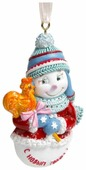 Елочная игрушка Magic Time Снеговик с конфетой (77794)