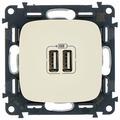 USB розетка Legrand Valena Allure 754996, слоновая кость