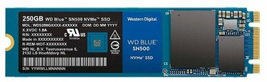Твердотельный накопитель Western Digital WD BLUE SN500 250 GB (WDS250G1B0C)