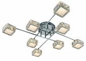 Люстра светодиодная Максисвет Геометрия 1-1692-8-CR Y LED, LED, 64 Вт