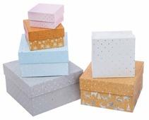 """Набор подарочных коробок Дарите счастье """"Зигзаги"""" 6 шт."""
