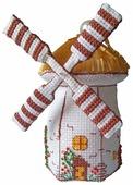 ZENGANA Набор для вышивания бисером и нитками Мельница 10 х 16 см (М-056)