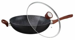 Сковорода-вок Peterhof PH-25345-34 34 см с крышкой