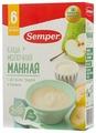 Каша Semper молочная манная с яблоком, грушей и бананом (с 6 месяцев) 200 г