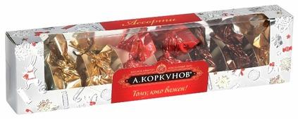 Набор конфет Коркунов Тому, кто важен! Молочный и темный шоколад 73 г