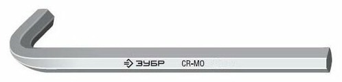Ключ шестигранный ЗУБР 27451-10 170 мм