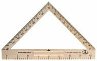 Красная Звезда Транспортир деревянный 180° 40 см (С176)