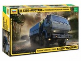 Сборная модель ZVEZDA Российский трехосный грузовик К-5350 Мустанг (3697) 1:35