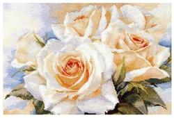 Алиса Набор для вышивания крестиком Белые розы 40 х 27 см (2-32)