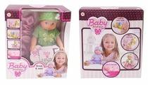 Интерактивный пупс ABtoys Baby boutique в зеленом костюме, 25 см, PT-01035