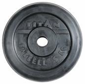 Диск TITAN обрезиненный d-26 мм 5 кг