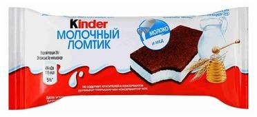 Пирожное Kinder Молочный ломтик 27.9%, 28 г