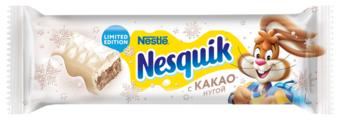 Батончик Nesquik белый шоколад с какао-нугой, 39 г