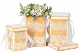 """Набор подарочных коробок Дарите счастье """"Кружево"""" 3 шт."""