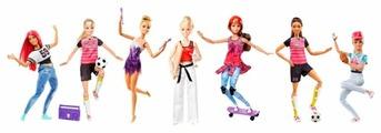 Кукла Barbie Безграничные движения спортсменка, 29 см, DVF68