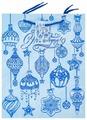 Пакет подарочный Феникс Present Синие новогодние шары 32.4 х 26 х 12.7 см