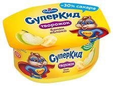 Творожок Савушкин СуперКид Банан-яблоко 3.5%, 110 г