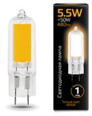 Лампа светодиодная gauss 107807105, G4, JCD, 5.5Вт