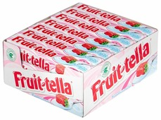 Жевательные конфеты Fruittella Клубника-йогурт с фруктовым соком 21 шт.