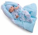 Интерактивная кукла Berjuan Младенец с голубой подушечкой, 45 см, 8097