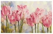 Алиса Набор для вышивания крестиком Розовые тюльпаны 40 х 27 см (2-37)