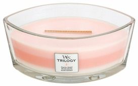 Свеча WoodWick Trilogy Island Getaway (Coastal Sunset, Seaside Mimosa, Island Coconut) (76967), эллипс