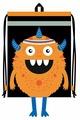 Феникс+ Сумка-мешок дорожная Оранжевый монстрик (48647)