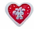 Игрушка-подушка СмолТойс Сердце красное Зайчики 36 см