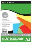 Цветная бумага Simply Daler-Rowney, A3, 21 л., 7 цв.