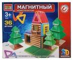 Магнитный конструктор ГОРОД МАСТЕРОВ Магнитный 4033 Зимний домик