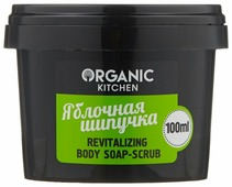 Organic Shop Мыло-скраб для тела Organic kitchen Яблочная шипучка