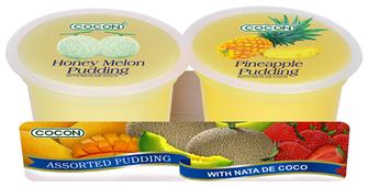 Пудинг COCON Медовая дыня и ананас 0%, 2 шт.