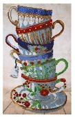Hobby & Pro Набор для вышивания бисером Чайный сервиз 25 х 40см (БН-3400)