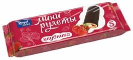 Мини-рулет Royal Cake глазированный со вкусом клубники (5 шт.)