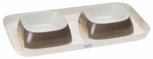 Подставка Ferplast Glam Tray Small с двумя мисками 800 мл