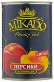 Mikado Персики половинками в сиропе 425 мл