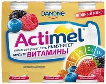 Кисломолочный напиток Actimel Actimel Ягодный микс бзмж 2.5%, 100 г