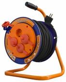 Glanzen Удлинитель силовой на катушке 4 гн. КГ 3х2.5 EB-30-011