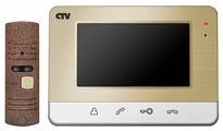 Комплектная дверная станция (домофон) CTV CTV-DP401 коричневый (дверная станция) коричневый (домофон)